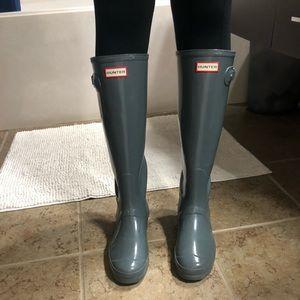 Hunter Shoes - Hunter gray rain boots